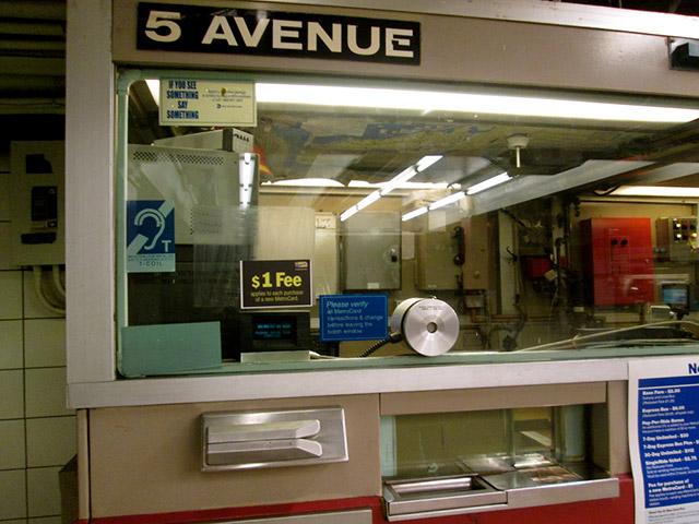 Police Search For Man Who Tried To Set Subway Token Booth On Fire