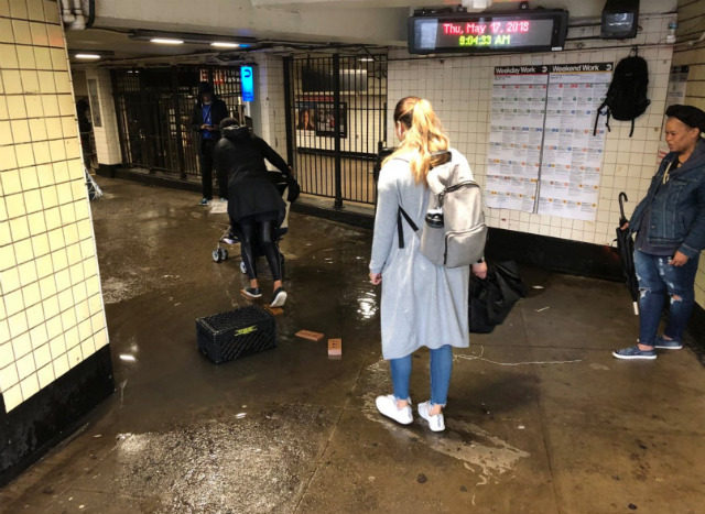 Here's How Clever New Yorkers Are Surviving Subway Flooding
