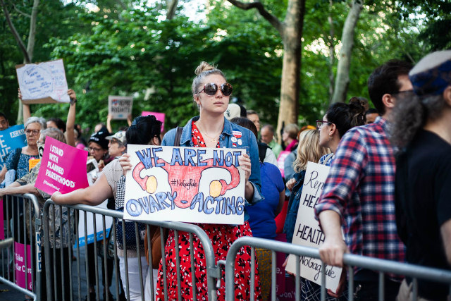 Hundreds In NYC Protest Trump's Proposed 'Gag Rule' On Abortions