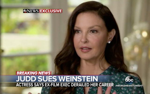 Ashley Judd Sues Harvey Weinstein For Interfering With Her Career
