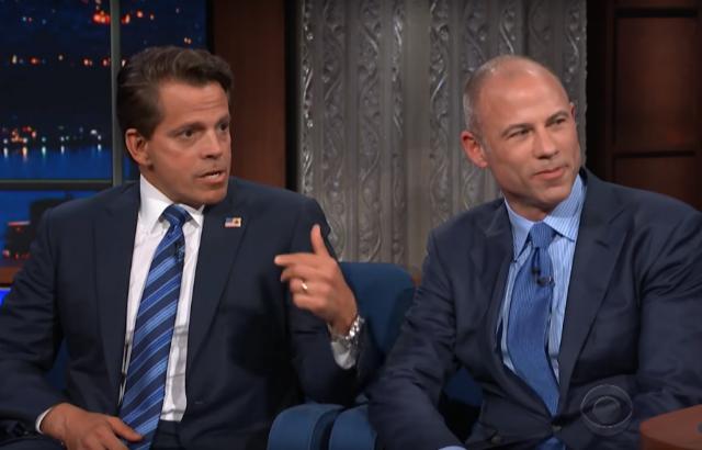 Michael Avenatti & Anthony Scaramucci Bring Their Hacky Garbage Shtick To Colbert