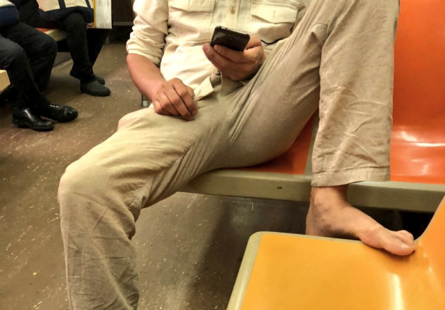 Barefoot Subway Manspreading: The Real NYC Horror Story