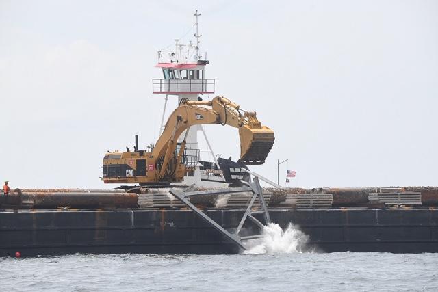 Photos: Old Tappan Zee Bridge Sunk Into Atlantic Ocean To Start Second Life As Reef