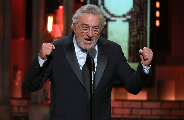 Photos, Videos: Robert De Niro Declares 'F*** Trump' During Tony Awards