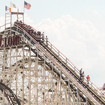 Cyclone Riders Forced To Climb Down Roller Coaster After Power Loss