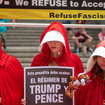 Photos: Handmaids Protest Mike Pence Appearance In Manhattan