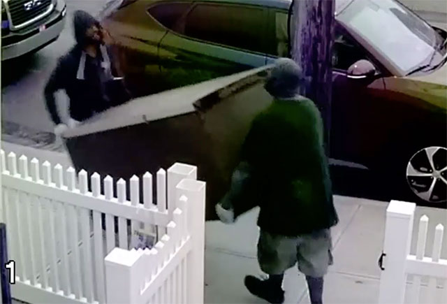 Video Shows Burglars Stealing Refrigerator From Queens Home
