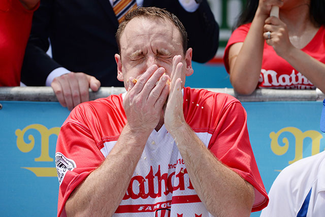 Joey Chestnut Smashes Own Record To Eat 74 Hot Dogs In Nathan's July 4th Hot Dog Eating Contest