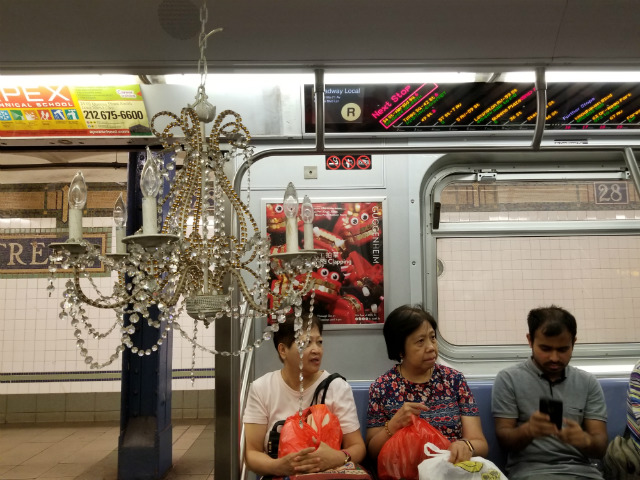 Nothing Classes Up The Subway Like A Chandelier