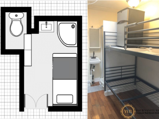 There's Plenty Of Room To Put Your Mini-Fridge On Your Bunk Bed In This UWS Micro-Studio