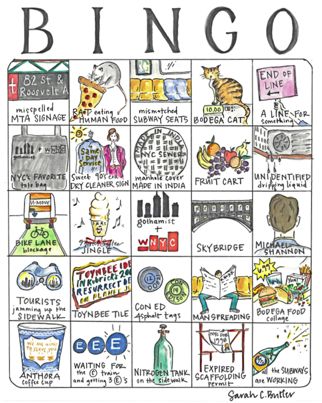 A Very NYC Bingo Card, Presented By Gothamist & WNYC