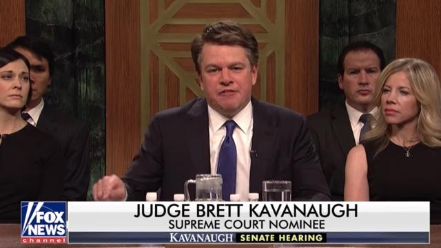 SNL Cold Open: Matt Damon Plays Judge Brett Kavanaugh As 'Keg Half-Full Kind of Guy'