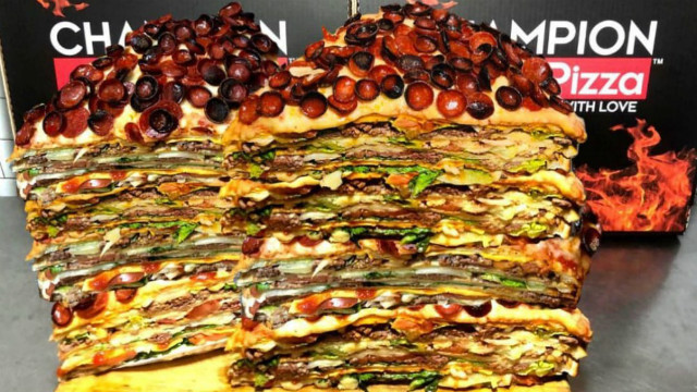 This 40 Pound Cheeseburger Pizza Is The Most Obscene Pizza In NYC