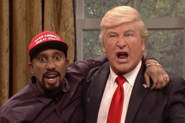 Video: 'Saturday Night Live' Recreates Surreal Kanye West/Donald Trump Oval Office Meeting