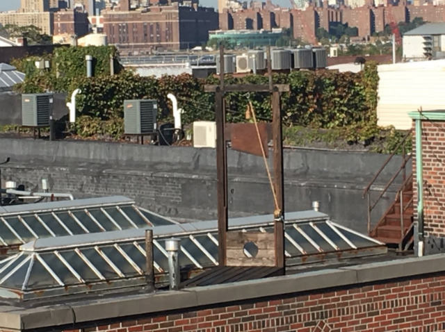 Why The Heck Is There A Guillotine On This Greenpoint Rooftop?