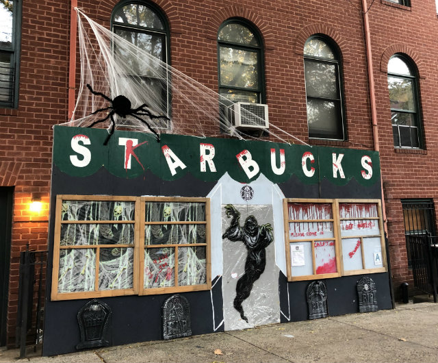 DIY Haunted Starbucks In Clinton Hill Offers 'De-Capputations' & 'Hairy Pumpkin Spider Spice'
