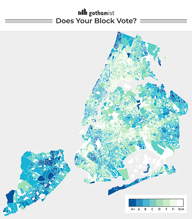 Find Out Your NYC Block's Voter Turnout With This Map