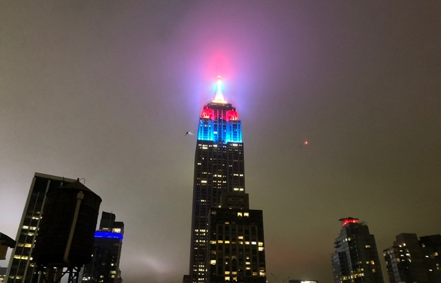 Video: What The Heck Was Going On With The Empire State Building Lights Last Night?