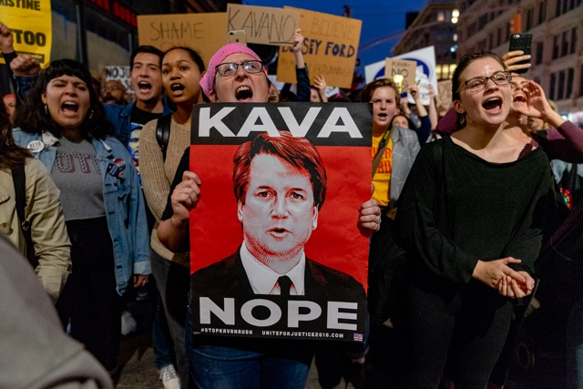 Photos: Protesters Take To NYC Streets, Decrying Brett Kavanaugh's Confirmation