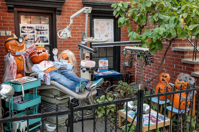 Brooklyn's Best Halloween Display Is This Horrifying Jack O'Lantern Dentist Trip