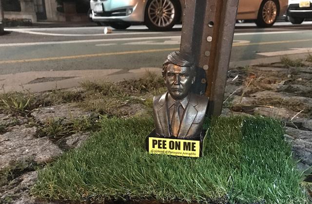 Trump 'Pee On Me' Statuettes Spotted On Brooklyn Sidewalks
