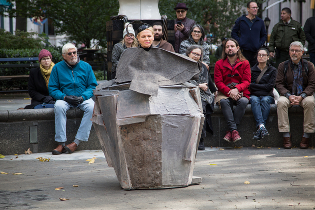 Video: Dianne Wiest Is Buried In Scorched Earth & Performing Samuel Beckett In This NYC Park