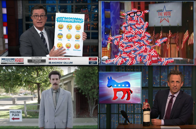 Stephen Colbert, Jimmy Kimmel, Seth Meyers, Trevor Noah & Borat React To The Midterm Elections