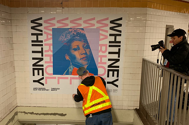 Andy Warhol Takes Over 14th Street Subway Station At 8th Avenue