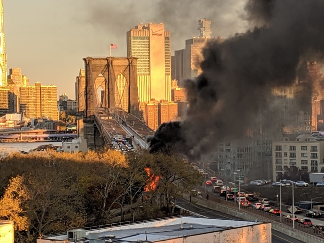 Fiery Brooklyn Bridge Car Crash Leaves 1 Dead, 5 Injured