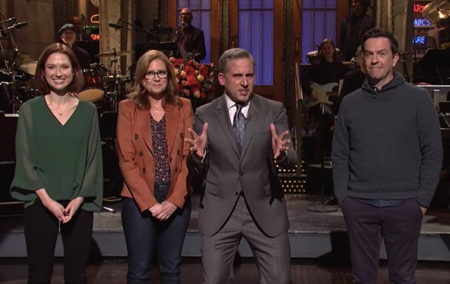 Videos: Host Steve Carell Stages An 'Office' Mini-Reunion On 'Saturday Night Live'