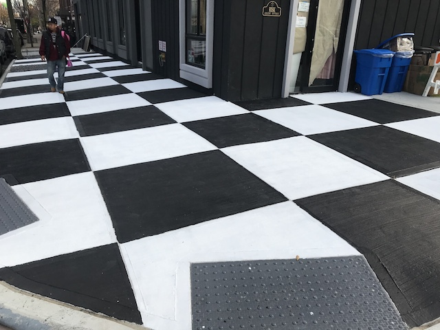 Bushwick Sidewalk Or Life-Size Chess Board?