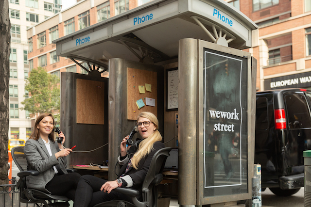 'WeWork Street' Brings Coworking To Unused Phone Booths