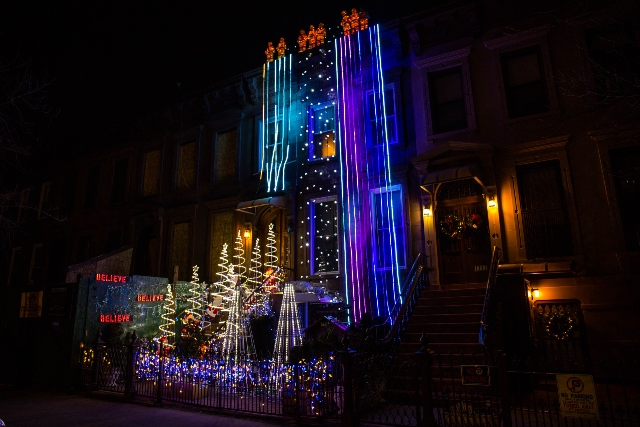 Is This The Weirdest Christmas Light Display In Brooklyn?