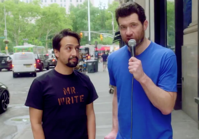 Video: Lin-Manuel Miranda Cheers Up New Yorkers On 'Billy On The Street'