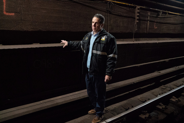 Cuomo Descends Into L Train Tunnel To See If This 15-Month Shutdown Is Really Necessary