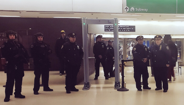 NYPD Tests Out Metal Detectors In The Subway