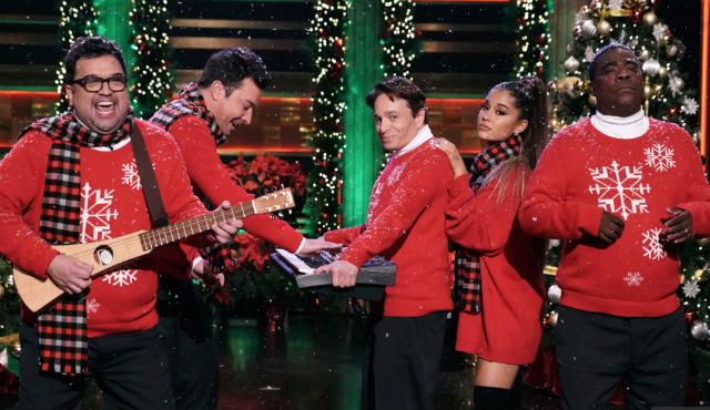 Ariana Grande Joins Former SNL Stars To Perform 'I Wish It Was Christmas Today'