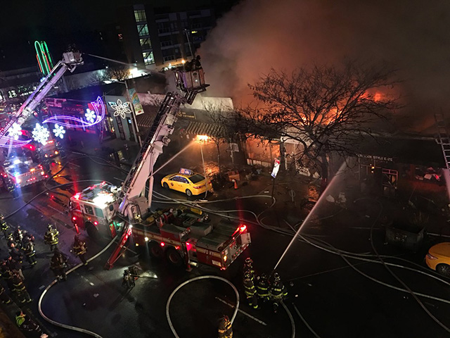 Video: Firefighters Battle 5-Alarm Fire, Huge Backdraft In Sunnyside