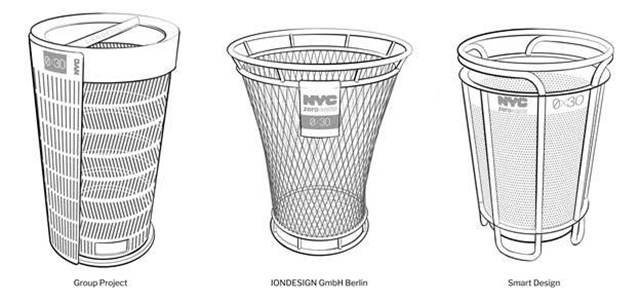 Here Are The Three Finalists For NYC's Trash Can Of The Future