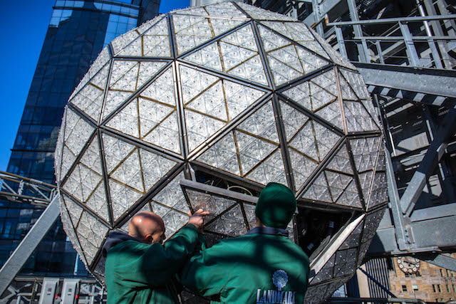 Photos: A Closeup Look At The Iconic Times Square NYE Ball