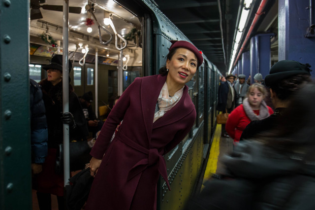 Photos: Nostalgia Subway Rides And Old-Timey Jazz Bands Come Together At 2nd Avenue