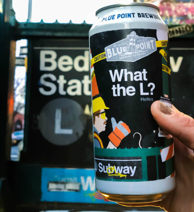 [Update] Blue Point Turns L Train Shutdown Confusion Into 'What The L' Lager