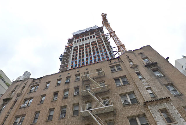 Concrete Falls From UES Building Onto Man Showering Next Door