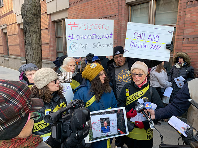 Safe Streets Advocates Rally Outside The View To Condemn Whoopi Goldberg's Anti-Bike Lane Remarks