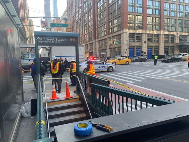 Tractor Trailer Crashes Into 23rd Street Subway Station At 6th Avenue