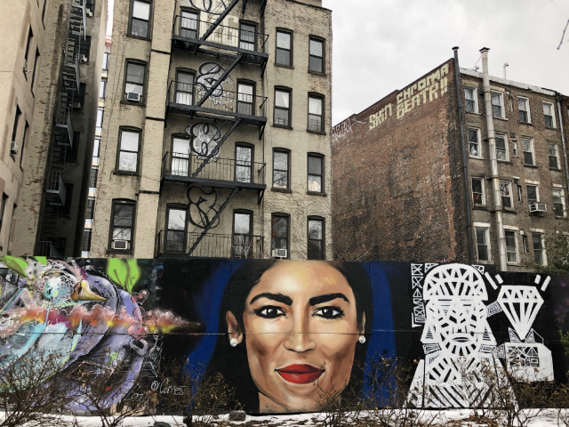 Big New Alexandria Ocasio-Cortez Mural On The Lower East Side Definitely Kinda Sorta Looks Like Her