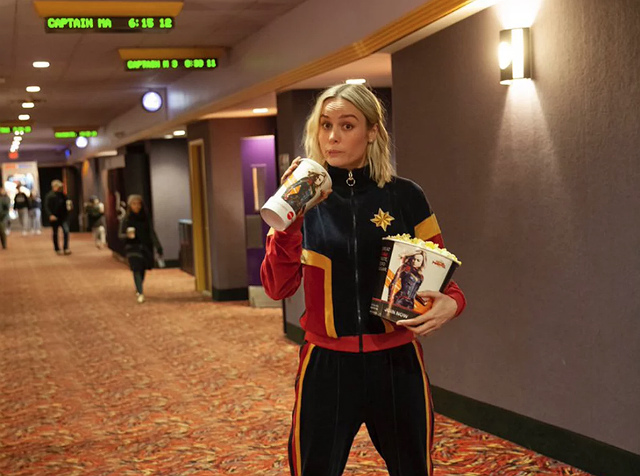 Brie Larson Dressed Up As Captain Marvel To Surprise Fans At NJ Movie Theater