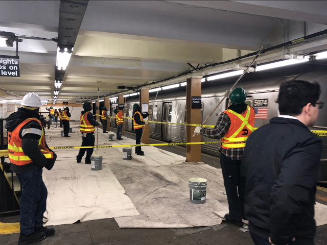 Why Is The MTA Painting Subway Stations During Rush Hour?
