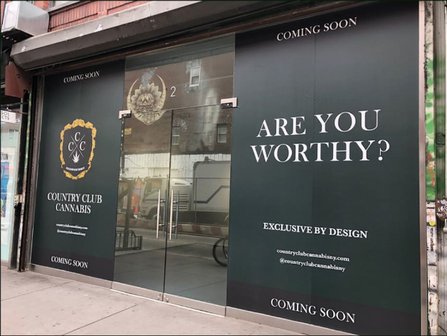 [Update] Elitist 'Country Club Cannabis' Pop-Up Mysteriously Appears On The LES