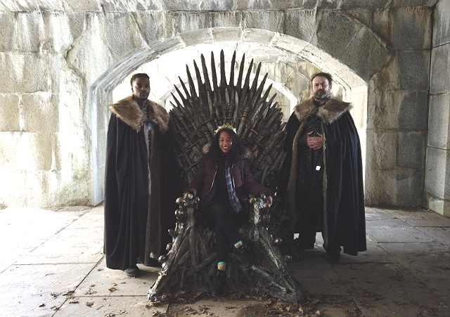 'Game Of Thrones' Fan Finds Iron Throne Inside Fort Totten Park In Queens